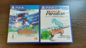 2x PS4 Spiel-Captain Tsubasa Rise of New Champions, Burnout Paradise Remastered