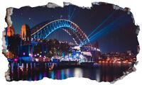 Australia Sydney Opera House Magic Window Wall Art Self Adhesive Poster V3*