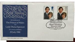 GB QEII 1981 Royal Wedding Cover Arundel Castle On Date Of Wedding SHS