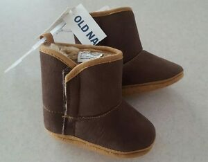 Old Navy 0-3 3-6 6-12 12-18 18-24 MONTH Cozy Boots BROWN Crib Shoe UNISEX #21117