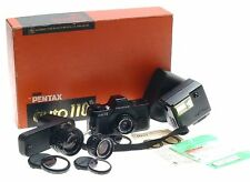 ASAHI PENTAX AUTO 110 CAMERA GRIP FLASH LENSES FILTERS CAPS MANUAL ORIGINAL BOX