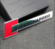 New Supercharged Sports Sticker Red 3D Chrome Badge Logo Sticker Car Bike Metal