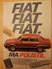 PUBBLICITA' ADVERTISING WERBUNG 1984 FIAT REGATA POLISTIL (LSR)