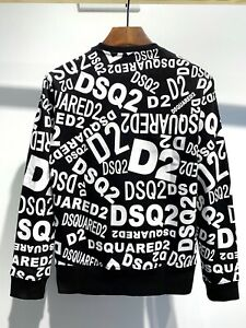 Dsquared2 Black Logo M Sweatshirt Men Unisex  Women