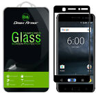 Dmax Armor for Nokia 6 Tempered Glass Full Cover Screen Protector -Black