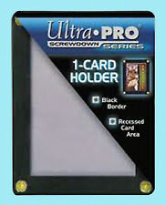 ULTRA PRO BLACK FRAME 1 CARD SCREWDOWN HOLDER Recessed 4 Screw Clear Display New
