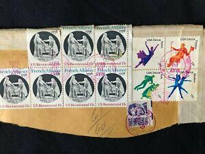 1978 Cancelled Stamps Ft. Lauderdale - US Bicentennial 1778; USA Dance corner