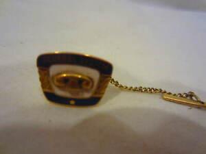 GENERAL SYSTEM Telephone award service pin 10K Gold VINTAGE