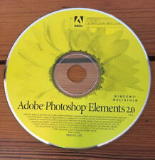 Adobe Photoshop Elements 2.0 Software CD Windows Mac 2002 w Serial Number