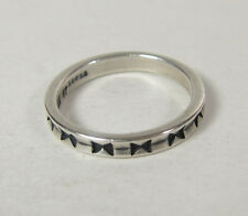 Size 6 Thin Band Ring .925 Sterling Silver USA Made Bow Tie Design Stackable