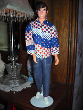 Free Moving Ken 1974 #7280 Denims For Fun Mod Barbie