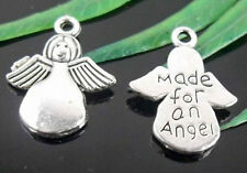 """Free Ship 320 Tibetan Silver """" Made for an angel """" Charms 19x13mm"""