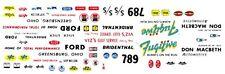 "SKIP WILSON ""THE FUGITIVE"" Ford Thunderbolt 1/64th HO Scale Slot Car Decals"