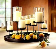 Design Kerzenständer Kerzenhalter Kerzentablett Teelichthalter Metall Glas Deko