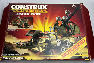 Vintage Fisher Price Construx Military Series 6331 Mobile Missles 1986 With Box