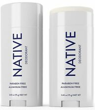 NEW Unisex NATIVE Deodorant Unscented Aluminum Free Long Lasting  (1) 2.65 Oz