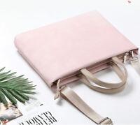 "Laptop Shoulder Bag PU Leather Computer Messenger Pouch For 12""13""15.6"" Mac Asus"