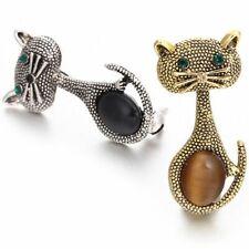 Women Cute Animal Brooches Wedding ParB7G9 Vintage Opal Cat Eye Brooch Pins For