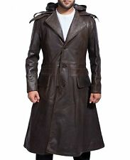 Assassins Creed Syndicate Jacob Frye Michael Fassbender Brown leather long Coat