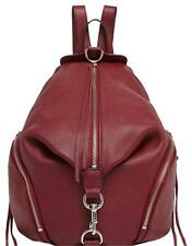 NWT Rebecca Minkoff JULIAN Leather Zip Backpack Color TAWNY PORT RED #HF26EPBB01
