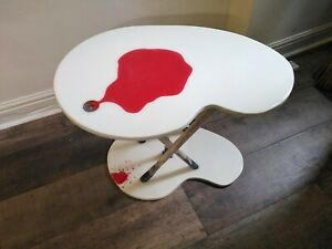 Unique coffee table. White with red features