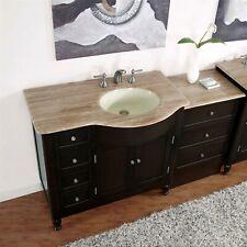 58-inch Bathroom Single Vanity Off-Center Right Sink + Drawer Cabinet 0902Tr