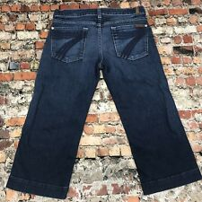 7 For all Mankind DOJO Women's Size 28 Denim Capri Crop Stretch Jeans #12B18