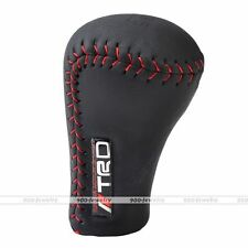 JDM TRD Leather Red Stitch Shift Knob Shifter Manual Car Gear Lever for Toyota