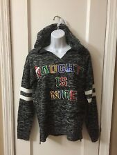 Womens Christmas Ugly Sweater Hoodie Naughty Is The New Nice  Small NWT New 3A