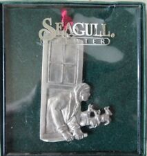Vtg Seagull Pewter Nova Scotia Christmas Tree Ornament Looking Out Window