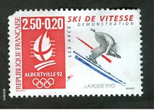 FRENCH POSTAGE-OLYMPIC ALBERTVILLE 92 SKI DE VITESSE STAMP LA POSTE 1990 FRANCE