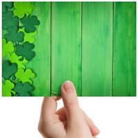 """Green Shamrock Irish Wood - Small Photograph 6"""" x 4"""" Art Print Photo Gift #14854"""