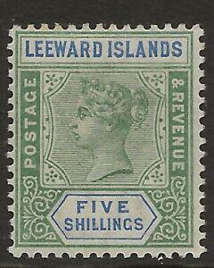 LEEWARD ISLANDS  SG 8  TOP VALUE OF 1890 Q.V. SET   VERY FINE  MINT