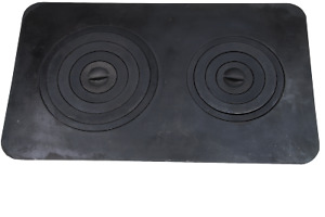 Gussplatte zum Ofen 2-Loch Ofenplatte Gusseisenplatte Noten Küche