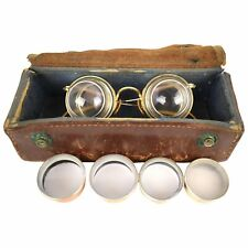 Very Rare Gold Jeweler Loupe Surgical Dentist Magnifying Ophthalmology Glasses