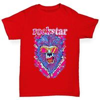 Twisted Envy Boy's Rock Star Lion Cotton T-Shirt