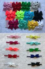 22 Pcs Baby Toddler Infant Girls Elastic Headband-2 Styles, Multi-colored