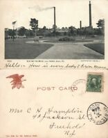 ERIE PA WATER WORKS & PARK UNDIVIDED 1907 ANTIQUE POSTCARD
