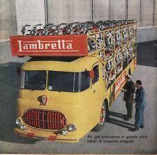 PUBBLICITA' 1952 LAMBRETTA BISARCA MOTO SCOOTER PRODUZIONE SERIE