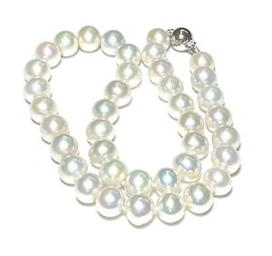 "Gorgeous Natural White Round Huge 9.5-11mm Edison Cultured Pearl 18"" Necklace"