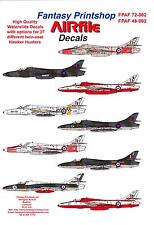 Airfile Decals 1/48 HAWKER HUNTER TWIN SEAT FIGHTERS IN R.A.F. SERVICE