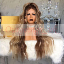 9A Peruvian Full Lace Human Hair Wig Ombre Blonde Wavy Remy Lace Front Wig 150%