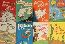 Lot 8 Large Dr. Seuss Books Hardcover Grinch Horton Lorax Birthday Oh the Places