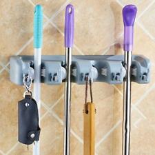 Kitchen Organizer Mop Holder 5 4 3 Position Brush Broom Hanger Storage Rack