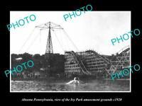 OLD LARGE HISTORIC PHOTO OF ALTOONA PENNSYLVANIA THE IVY PARK FAIR GROUND c1920