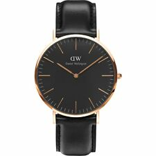 BRAND NEW Daniel Wellington Sheffield Black & Rose Gold Unisex Watch DW00100127