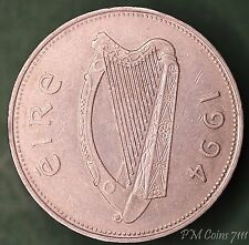 1994 Irish punt £1 one pound EIRE nice coin with stag, struck off centre *[7111]