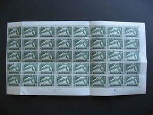 Malaya Penang Sc 49 MNH folded partial sheet of 40 with plate block!