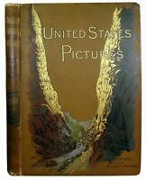 1891 AMERICA Picturesque TRAVEL Tourist Old South & West CALIFORNIA Antique MAP