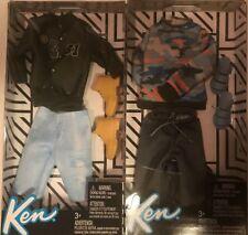 Barbie Ken Fashionistas Clothes 2 Sport Outfits Complete Set Shoes jacket shorts